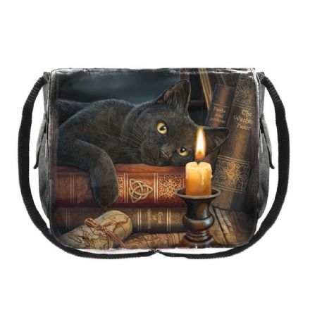 Witching Hour - Lisa Parker Cat & Candle Messenger Bag